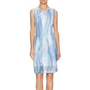 T Tahari Dresses & Skirts - T Tarahi Kimber Printed Eyelet Sheath Dress Sz 2