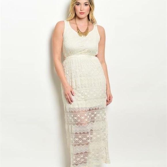 Cream Plus Size Dress