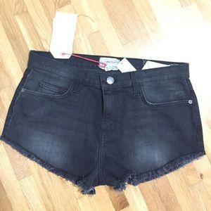 Current/Elliott Black Denim Cut Off Shorts