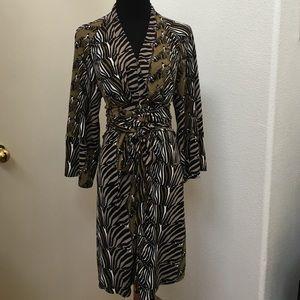 Banana republic zebra print dress