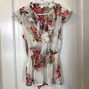 Xhilaration Tops - Floral print blouse