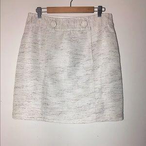 Ann Taylor Dresses & Skirts - Ann Taylor mod metallic tweed button skirt 12
