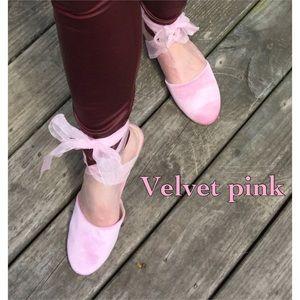 Shoes - Pink velvet ballet flats NWT 6.5 7, 7.5, 8, 8.5, 9