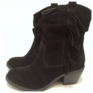 NWOT Suede Fringe Boot! New, Size 8 Booties