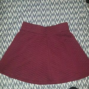 Inspire Dresses & Skirts - Burgundy skater skirt