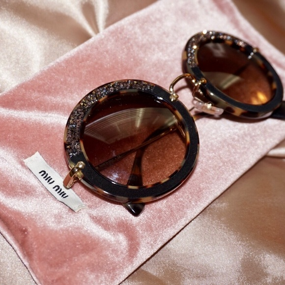 90f6326b386d MIU MIU rhinestone and tortoise shell Sunglasses