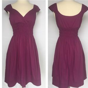 Maggy London Dresses & Skirts - Maggy London purple cap sleeve dress size 4
