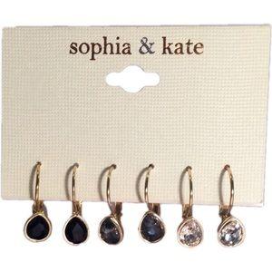 Sophia & Kate Jewelry - Sophia & Kate 3 Pcs. Teardrop Earrings