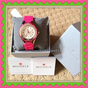 Michele Accessories - Authentic Michele Pink Women's Watch