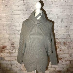 Tops - High Neck Bat Wing Sweater