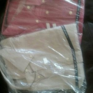 NWT Tommy hillfiger mens COTTON dress shirt. Red