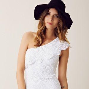 Nightcap Other - Nightcap Spanish Lace Bodysuit in White