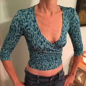 Karen Millen Tops - Totally 80s Karen Millen silk top!