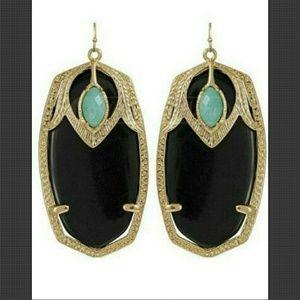 Kendra Scott Jewelry - Kendra Scott Darby Mirage earrings Black with Gold