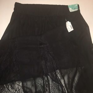 Maurices Black Lace Skirt