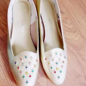 American Vintage Shoes - Vintage MAGDESIAN rainbow jeweled flat loafers