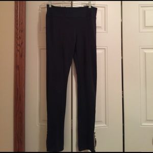 Zenana Outfitters Pants - Navy Blue Zenana Leggings with Zippers on sides.
