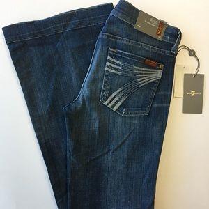 7 For All Mankind Denim - 7 For All Mankind Dojo Denim Jeans 28 x 35 NWT!