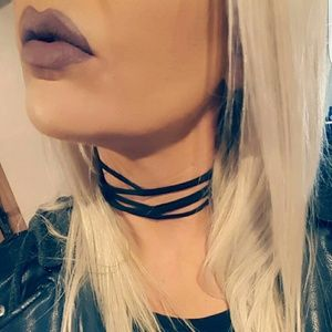 Jewelry - Black Suede multi layer Choker Necklace