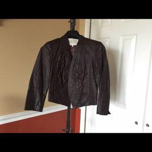Rachael Roy faux leather jacket