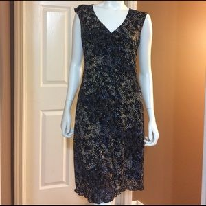 Connected Apparel Dresses & Skirts - Connected Apparel Black with Floral Print Design