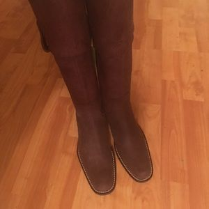 Shoes - Crushed Leather Riding Boots
