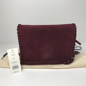 Tory Burch Handbags - Authentic New Tory Burch Marion Suede Crossbody