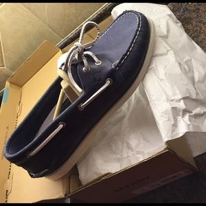 Sperry Top-Sider Other - Brand new men's navy Sperry boat shoes.