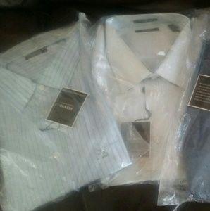 ALFANI men's blue stripe shirt. 100% cotton.