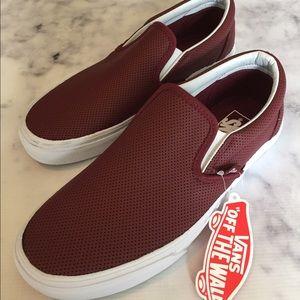 Vans Shoes - VANs NWB Perforated Leather Port Slip-ons