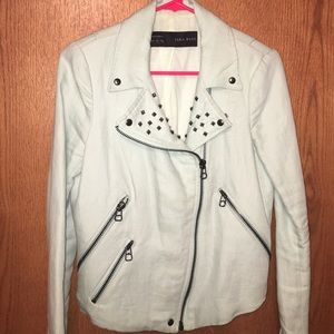 ZARA Studded Biker Jacket MINT Size Medium