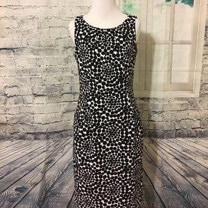London Times Dresses & Skirts - London Times black polka dot sheath dress