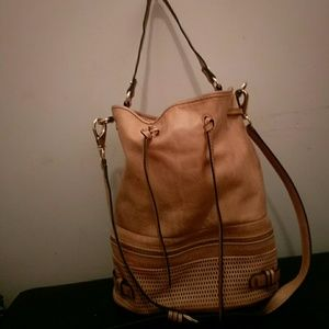 She-Lo Handbags - Salmon she-lo leather bag