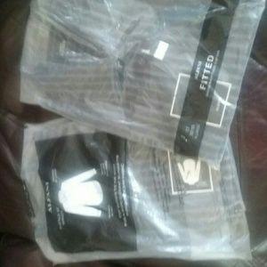 Alfani slim fitted dark brown/ gray stripe shirt