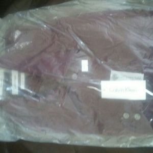 Calving Klein mens dress shirt formal two fold
