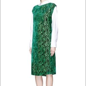 Dries Van Noten Dresses & Skirts - Dries Van Noten Dongen Green Tiger Stripe Devore