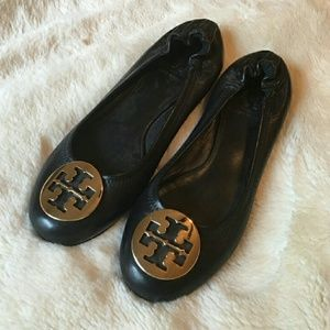 Tory Burch Rev Flat in black