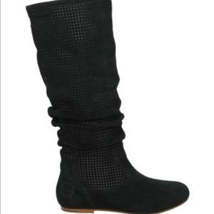 UGG Black Abilene Suede Slouch Boots New 6