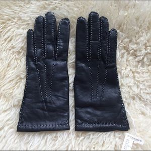Vintage Wrist Leather Gloves