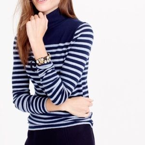 J. Crew Sweaters - J Crew Striped Turtleneck Sweater
