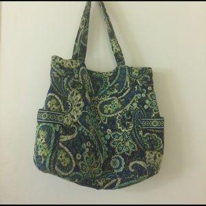 Vera Bradley | Blue & green paisley large tote