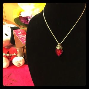 Jewelry - ❤️NWT❤️ROMANTIC RED CRYSTAL CROWN HEART NECKLACE❤️