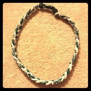 Titanium Other - Titanium Sport Necklace Green and White