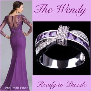 Jewelry - 💜 The Wendy 💜 Gorgeous Amethyst Criss-Cross Ring