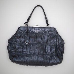 Prada Handbags - Prada Gunmetal Gray Purse - Full Size Day Bag