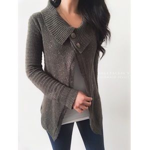 Rubbish Sweaters - Dark Grey Speckled Cardigan