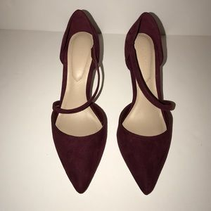 Aldo Burgundy Suede Pumps 6