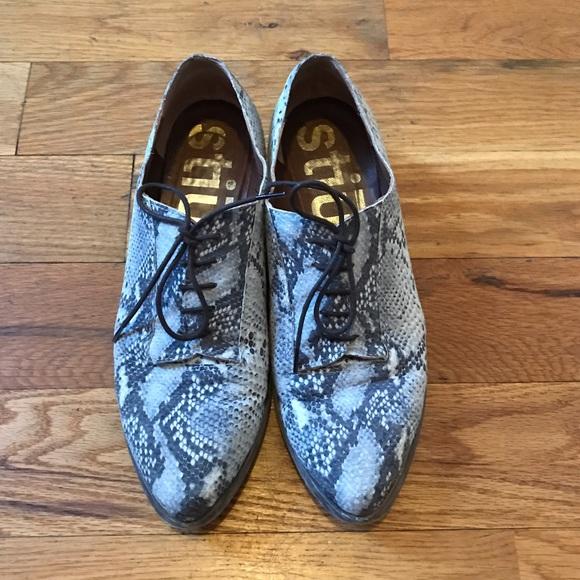 Stiu Leather Print Oxford Poshmark Shoes Snake 76q7vz4a
