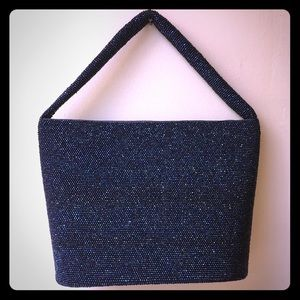 Vintage Beaded Blue Bag