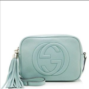 Gucci Handbags - GUCCI soho disco light blue cross body worn twice